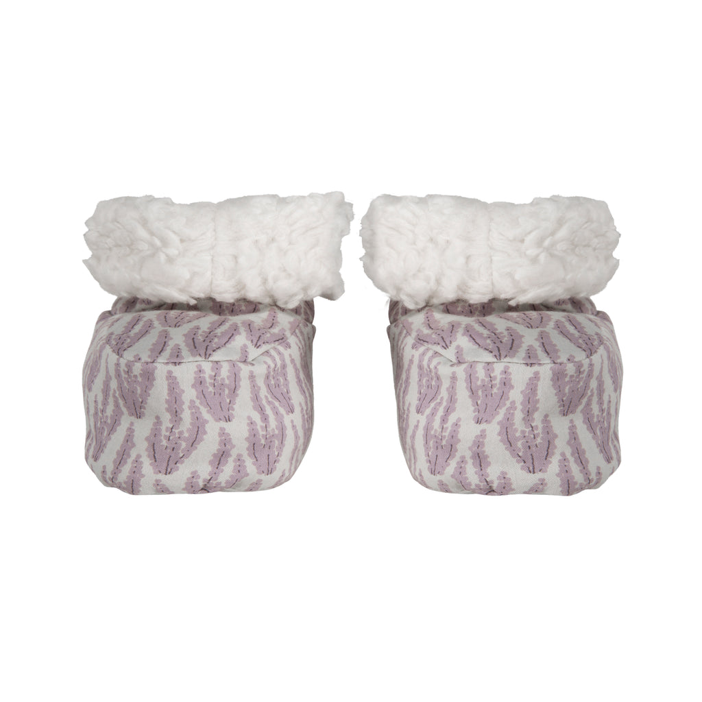 Sateen Heather Flower Booties - Polly & Pickles Baby Boutique