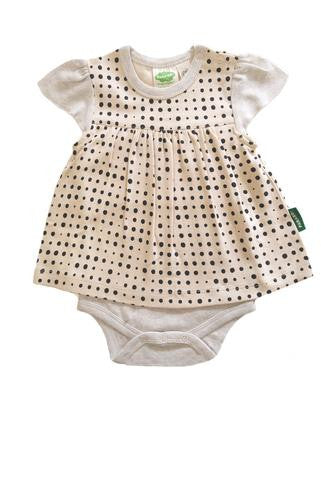 03833bf7af9 Onesie Dress - Dots – Polly   Pickles Baby Boutique