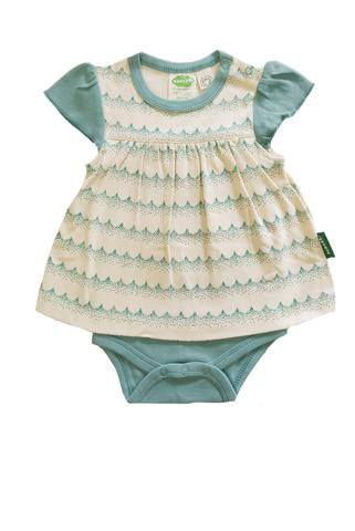 Onesie Dress - Green Waves - Polly & Pickles Baby Boutique
