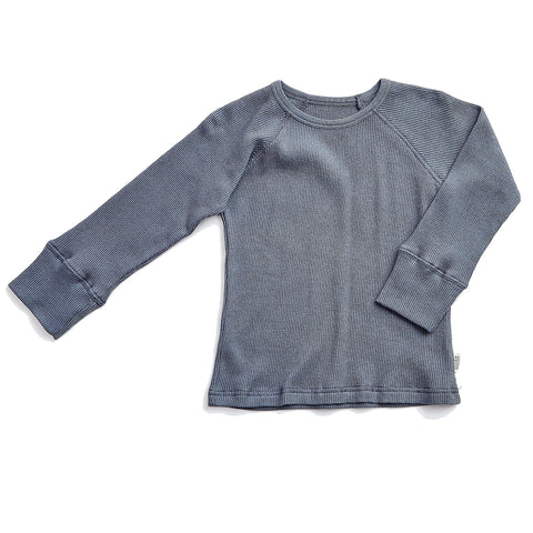 Blue Grey Long Sleeve T - Polly & Pickles Baby Boutique