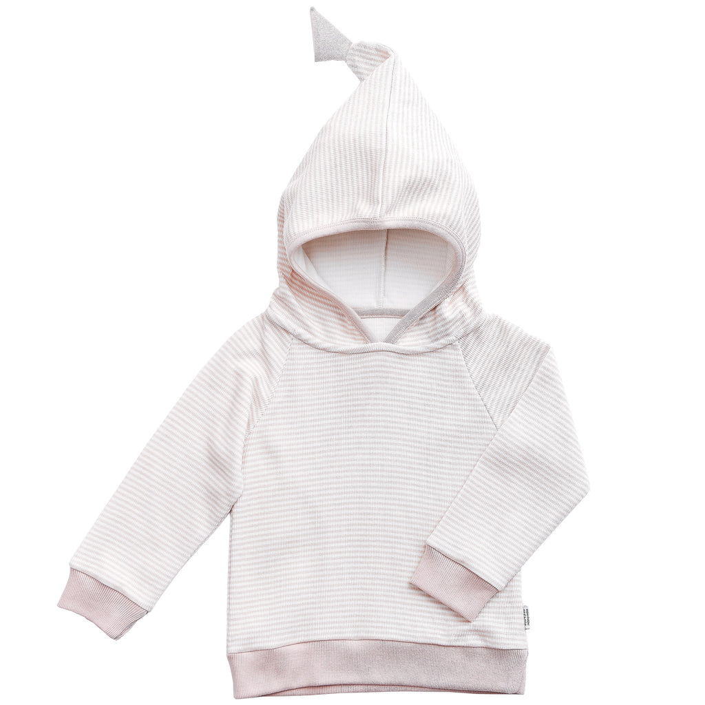 Rose Striped Hoodie - Polly & Pickles Baby Boutique