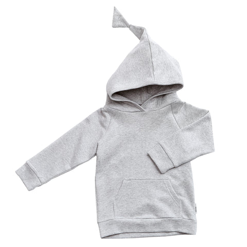 Grey Hooded Pullover - Polly & Pickles Baby Boutique