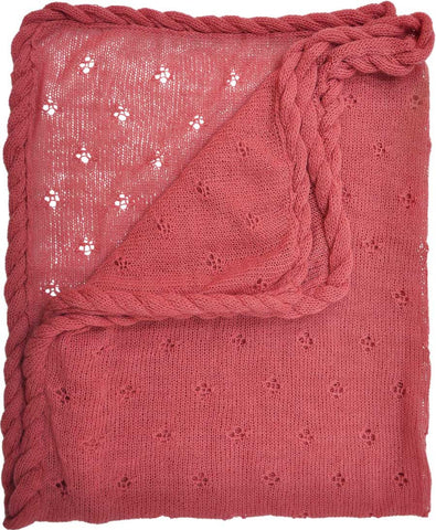 Alpaca Wool Baby Blanket-Coral - Polly & Pickles Baby Boutique