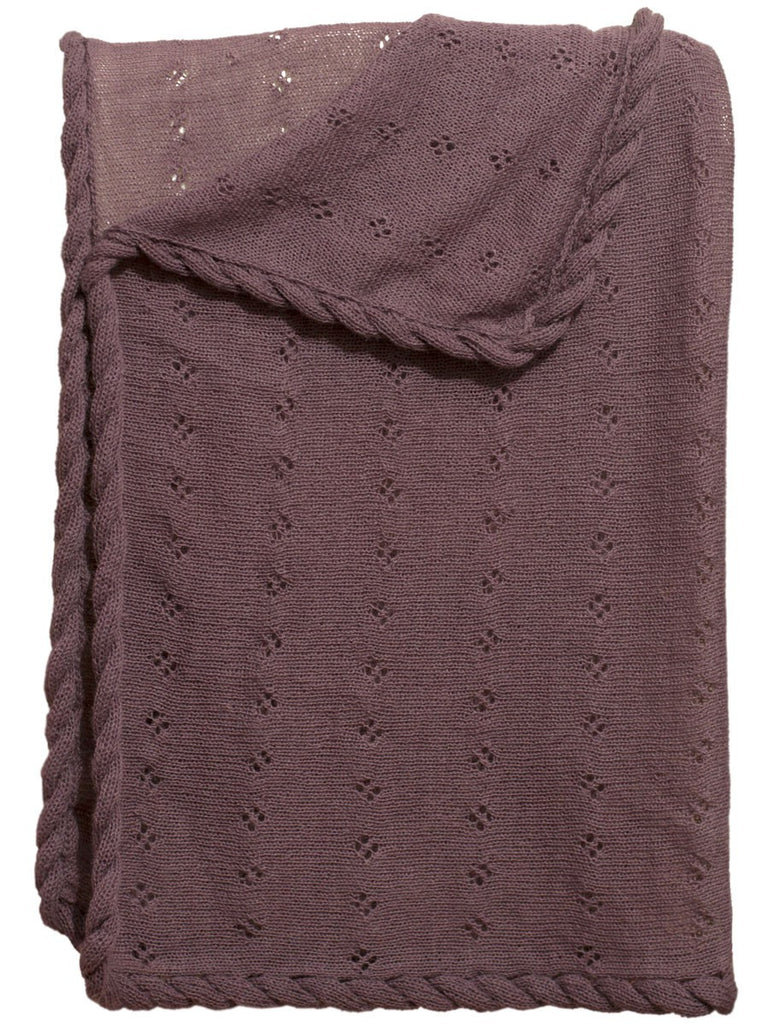 Alpaca Baby Blanket- Purple - Polly & Pickles Baby Boutique