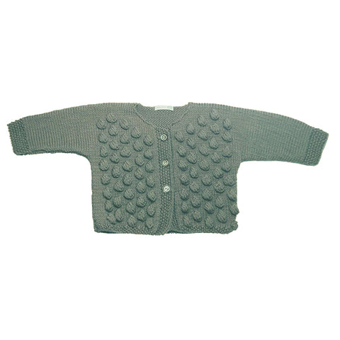 Cardigan Dots - Grey - Polly & Pickles Baby Boutique