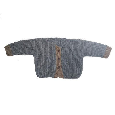Grey / Caramel Knitted Sweater - Polly & Pickles Baby Boutique