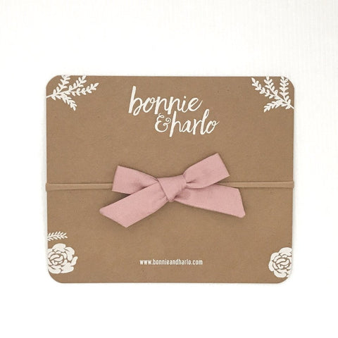 Dusty Bow Headband - Polly & Pickles Baby Boutique