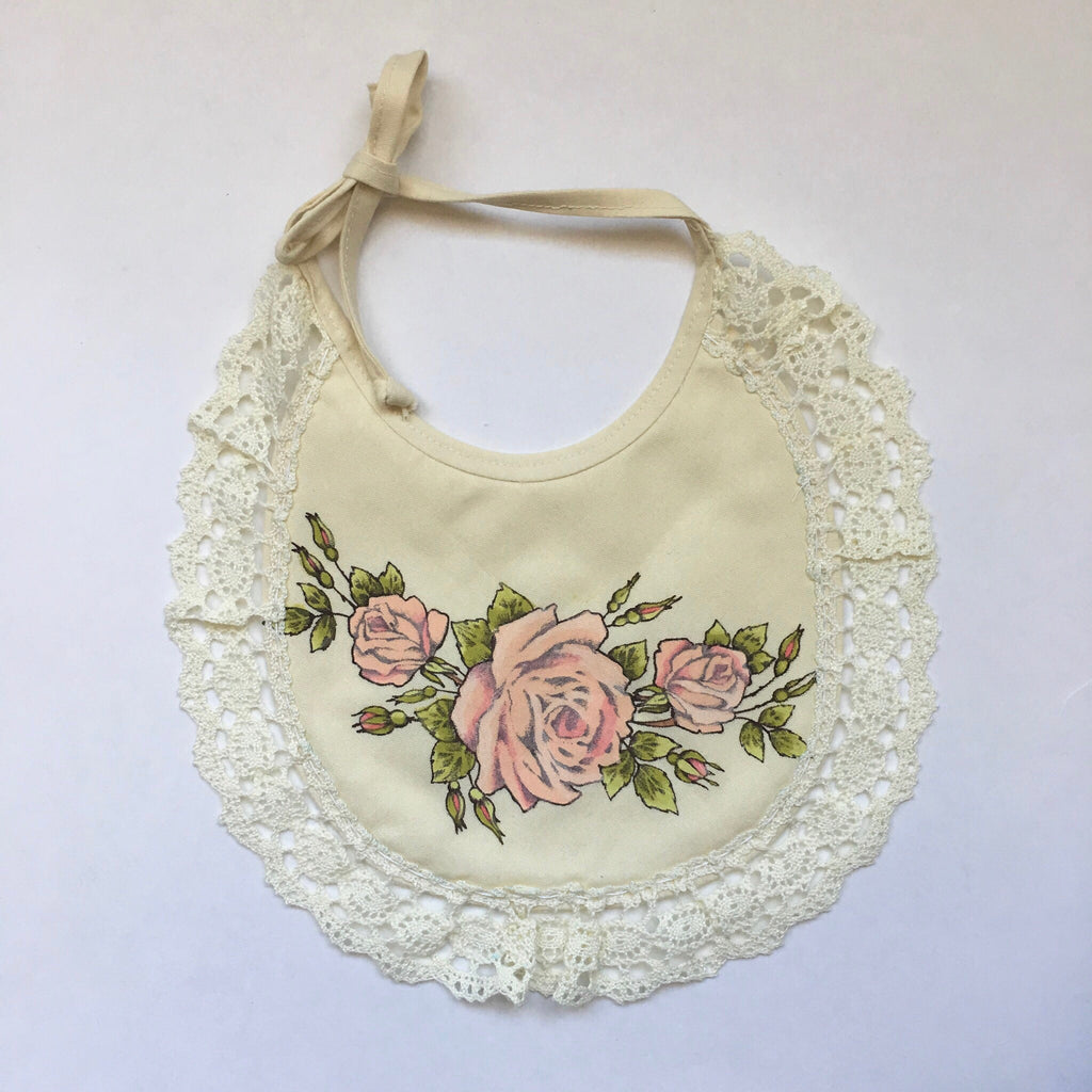 Floral Vintage Bib - Polly & Pickles Baby Boutique