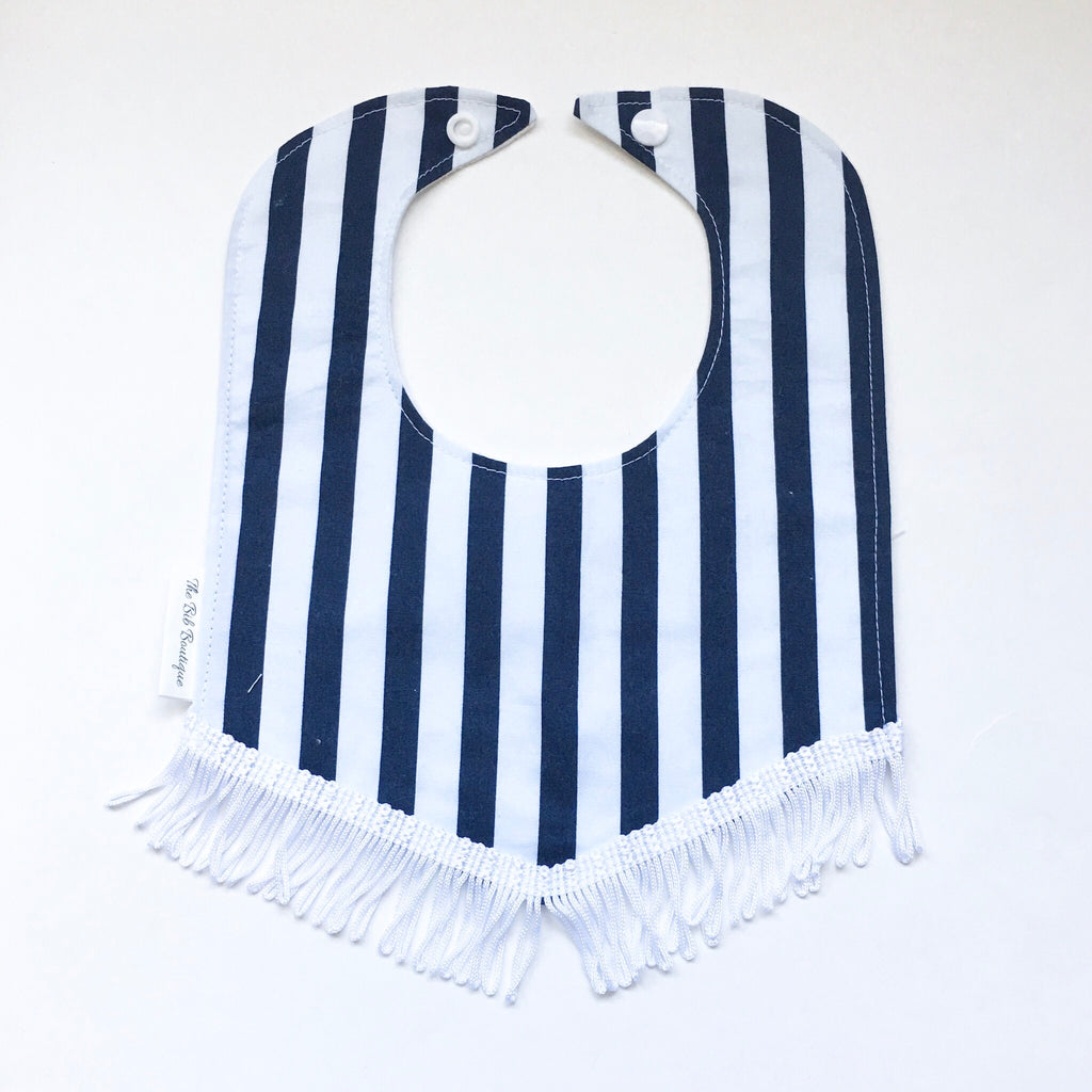 Striped Drool Bib - Polly & Pickles Baby Boutique