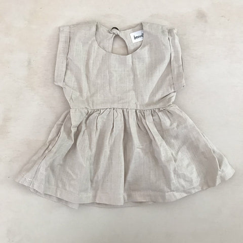 Daisy Dress- natural Linen - Polly & Pickles Baby Boutique