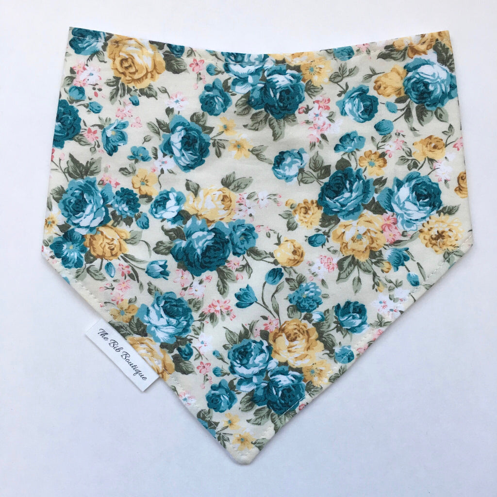Floral bandana Bib - Polly & Pickles Baby Boutique