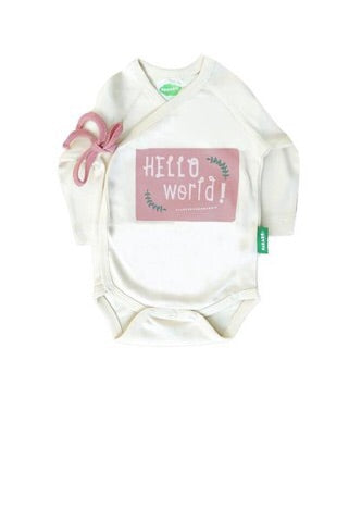 Hello World Kimono Onesie - Polly & Pickles Baby Boutique
