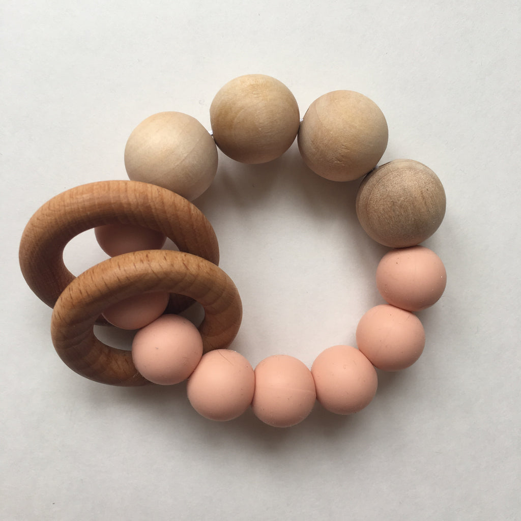 Wooden Teether - Polly & Pickles Baby Boutique