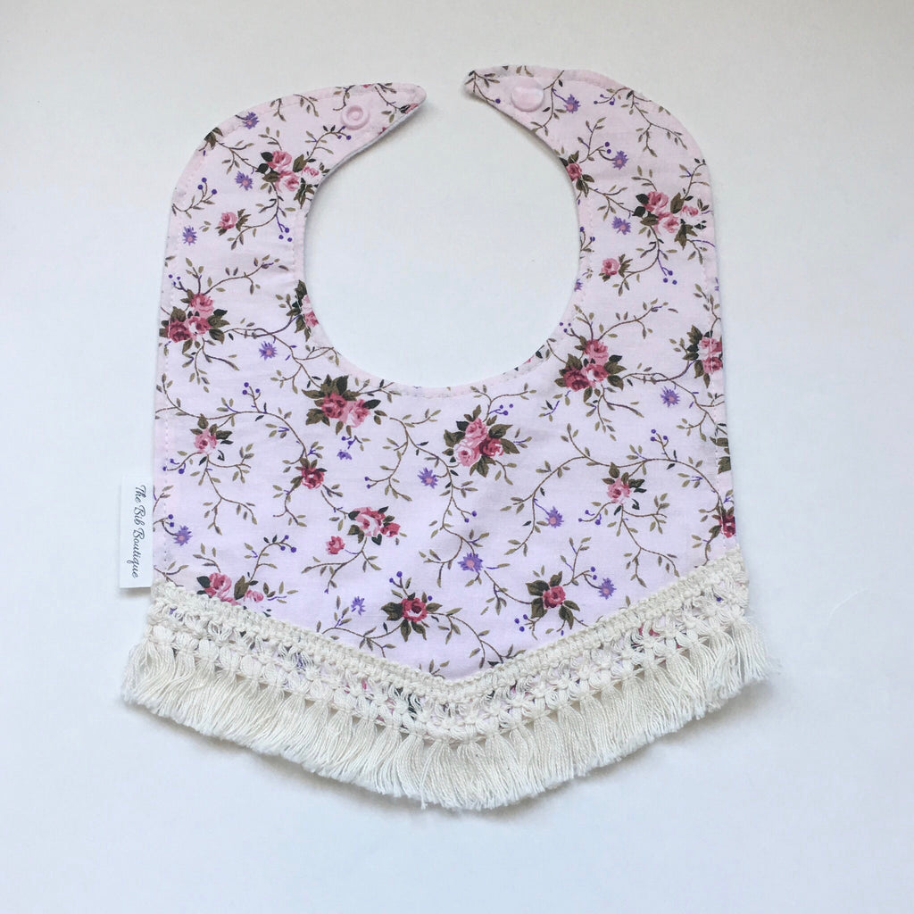 Floral Drool Bib - Polly & Pickles Baby Boutique