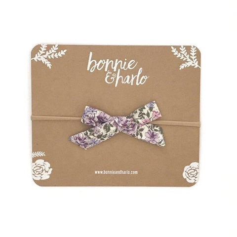 Bow in Iris - Polly & Pickles Baby Boutique