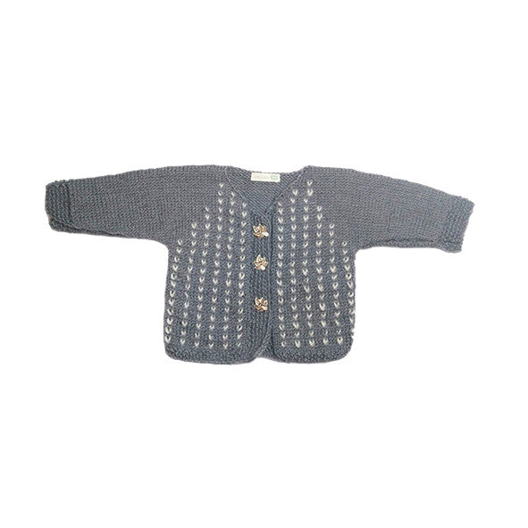 Knitted Grey Cardigan - Polly & Pickles Baby Boutique