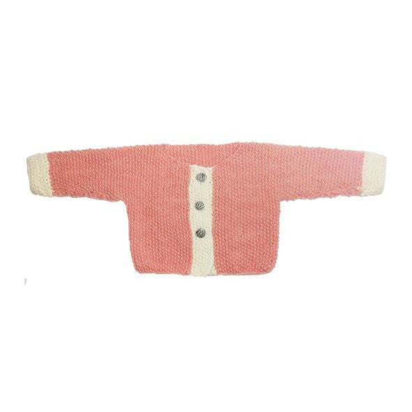 Cream and Blush Knitted Sweater - Polly & Pickles Baby Boutique