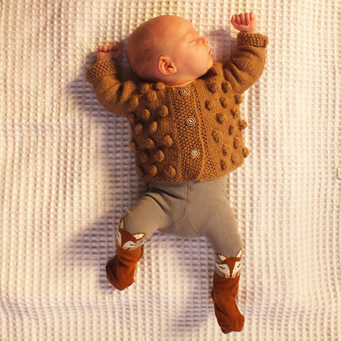 Cardigan Dots Caramel - Polly & Pickles Baby Boutique