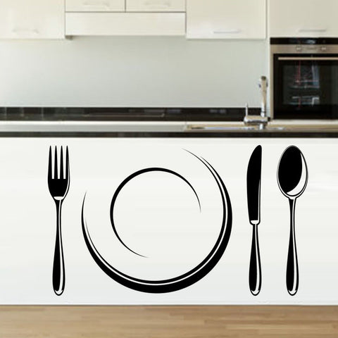 Plate and Cutlery StickIt Kitchen