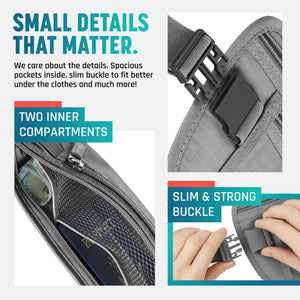Grey Money Belt and RFID Sleeves set