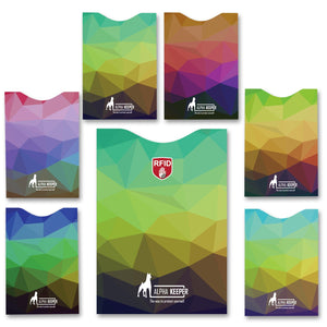 Stylish RFID Sleeves set - Colorful Mosaic - Alpha Keeper