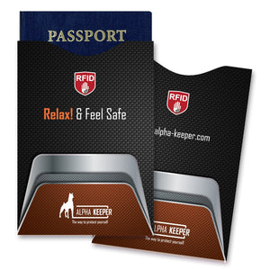 Stylish RFID Sleeves set - Carbon Fibers - Alpha Keeper