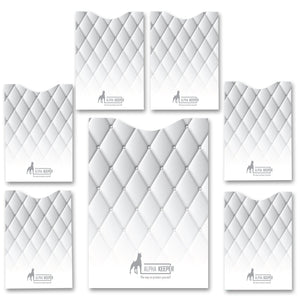 Stylish RFID Sleeves set - White Sofa - Alpha Keeper