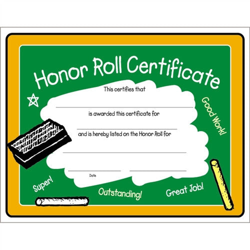 Honor roll certificate kinder graduates yadclub Choice Image