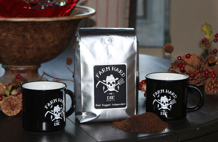 Coffee & Tinware Mug Gift Set - Farm Hard or Die