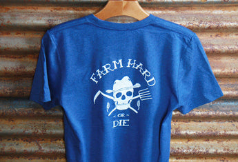 Unisex Tri Blend Short Sleeve T-Shirt - Farm Hard or Die