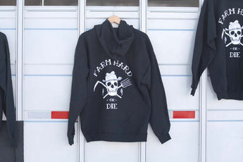 Farm Hard or Die Zip Hoodie Sweatshirt - Farm Hard or Die