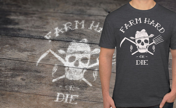 Men's Farm Hard or Die Crew T-Shirt - Farm Hard or Die
