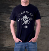 Men's Farm Hard or Die T-Shirt - Black - Farm Hard or Die