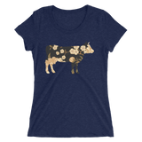 Artist Series by FHoD - Ladies' short sleeve t-shirt - Cow - Farm Hard or Die