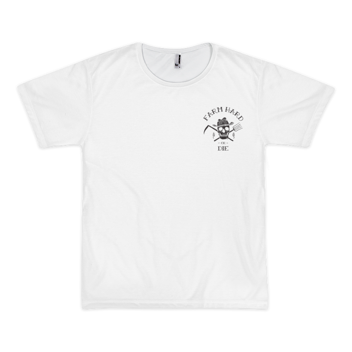 Farm Hard or Die Classic White Short Sleeve Men's T-shirt - Farm Hard or Die