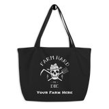 Large organic tote bag (customizable) - Farm Hard or Die