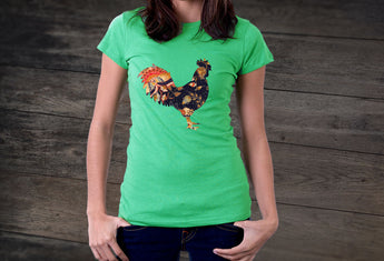 Artist Series by FHoD - Ladies' short sleeve t-shirt - Rooster - Farm Hard or Die