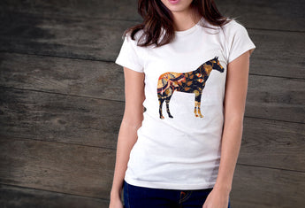 Artist Series by FHoD - Ladies' short sleeve t-shirt - Horse - Farm Hard or Die