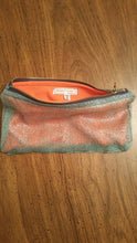 BLUE AND ORANGE ZIPPER POUCH