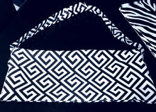 LARGE BLACK AND WHITE BAG