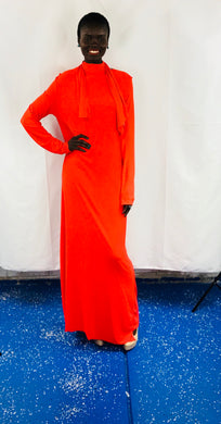 Orange long Sleeve Dress