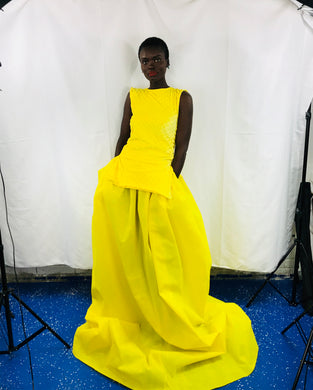 Yellow Ball Gown Bottom/Top