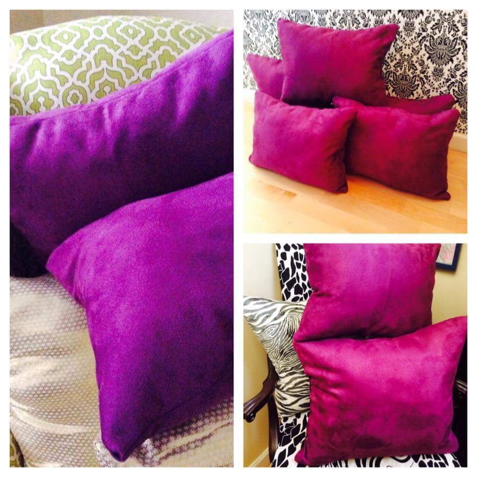 5 VELVET PILLOWS