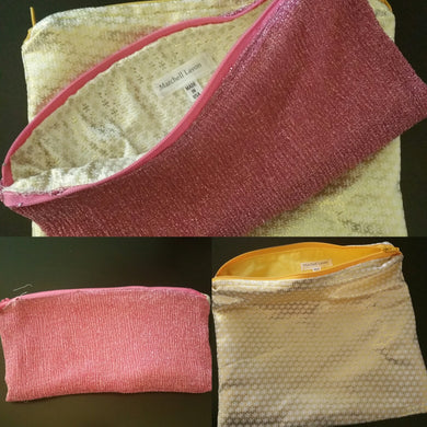 PINK PASSION PINEAPPLE ZIPPER POUCHES