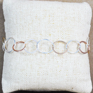 Mixed Metals Bubble Chain Bracelet