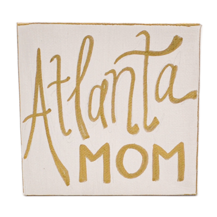 """Atlanta Mom"" Canvas Painting"