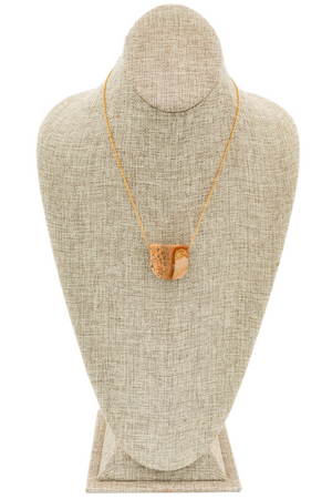 Jasper and Gold Necklace Short