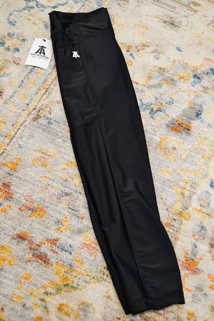 Black Leggings with Side Logo