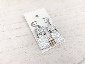 Hinged Dangle Leather Earrings