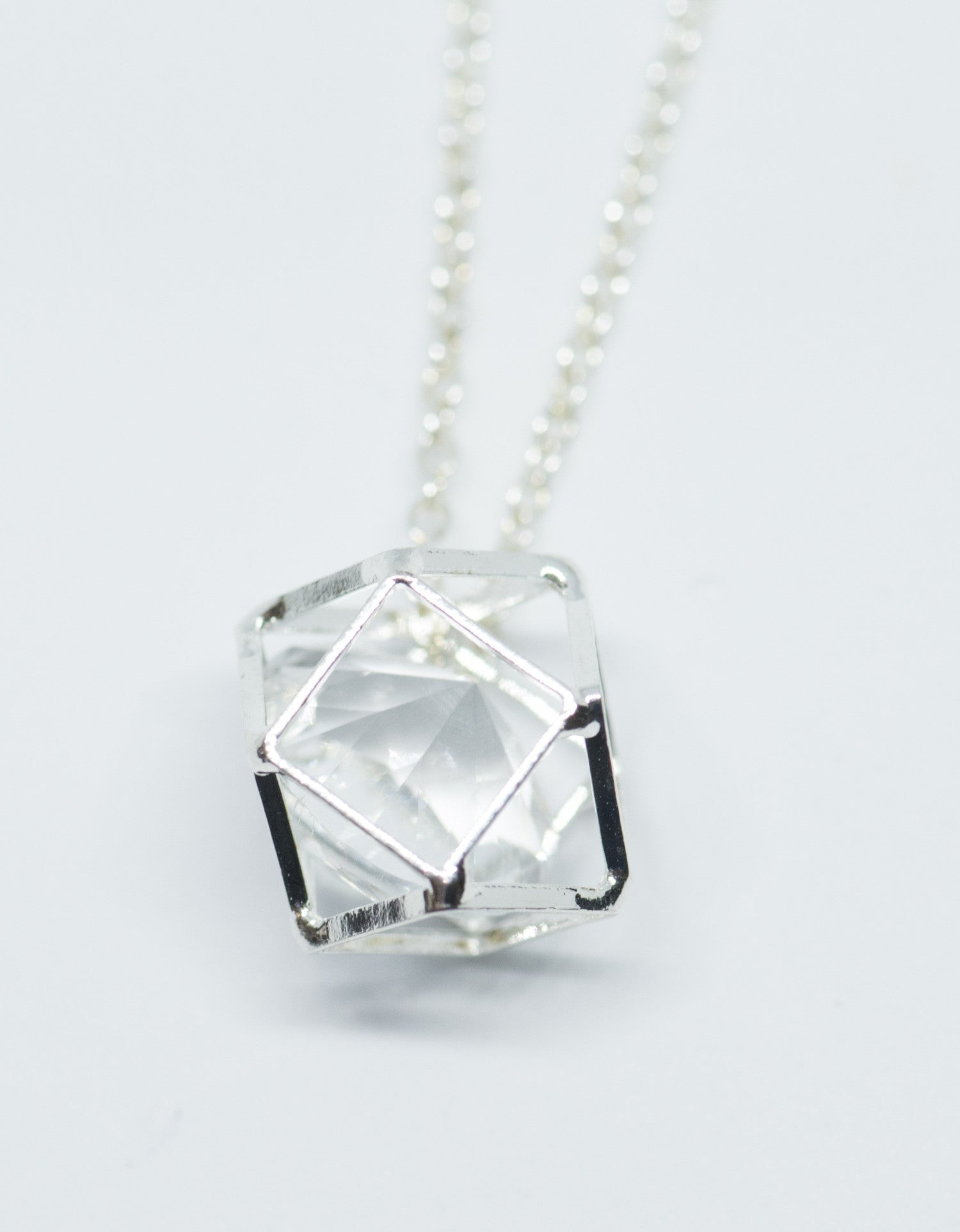 Caged Crystal Necklace